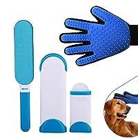 ペット抜け毛取りクリーナー 犬猫抜け毛掃除用ブラシ ペットブラシ 粘着式クリーナー 手袋 マッサージブラシ(手袋+掃除ブラシ) 3〜5労働日以内配達
