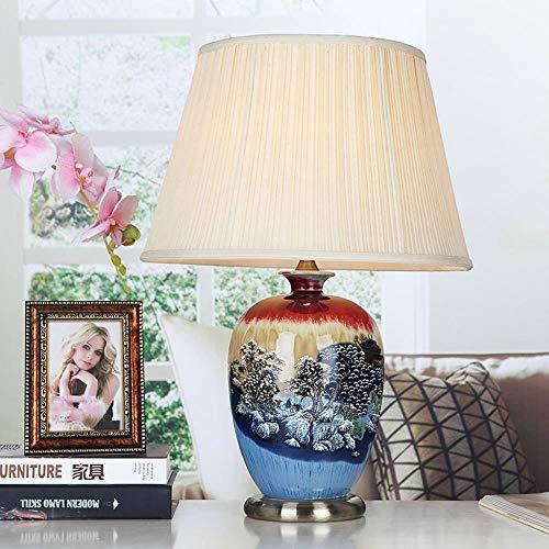 Lámparas de escritorio FHW Vector Decorativa cerámica de la lámpara lámpara de Mesa de Chino Mandarín Estilo Perfecto for Todas Las Salas de Estar y dormitorios