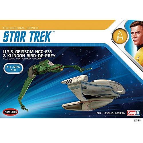 Polar Lights Star Trek: USS Grissom and Klingnon BoP 1:1000 Scale Snap Model Kit