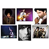Prince Ultimate Fan Collectors Photo Prints - Set of Six 8x10 Wall Art Posters - RIP Singer Prince Rogers Nelson