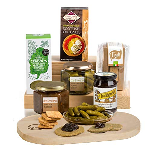 Cheese Lover's Christmas Cheese Accompaniments Gift by Hay Hampers - Chutneys, Pickles, Crackers and Cheeseboard