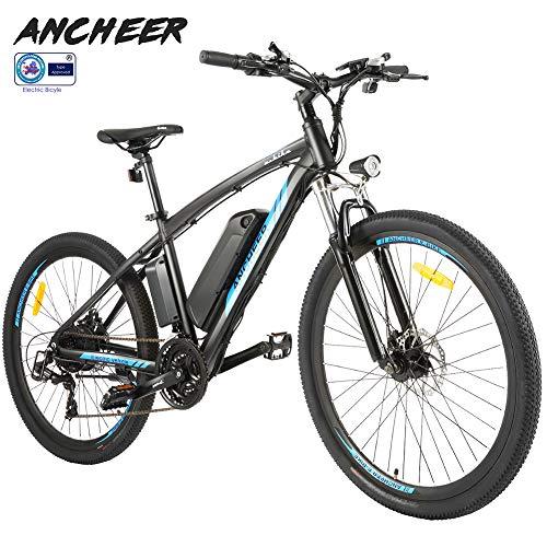 mächtig ANCHEER Elektrofahrrad Mountainbike Elektrofahrrad 26 ″ / 27,5 ″, 36V 8Ah / 10Ah / 12Ah…