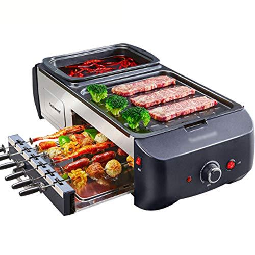 QHYY 3-in-1 rookvrije bevoorbeeld-hete pannen-automatische roterende formule grill-rek Koreaanse soort Teppanyaki