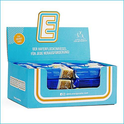 Energy Cake – Fitness Riegel aus Haferflocken mit langkettigen Kohlenhydraten – Energieriegel Sattmacher für den Alltag mit weniger Zucker & unglaublichem Geschmack - Cookies-Cream 24x 125g (3kg)