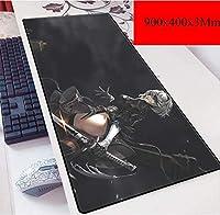 ゲーミングマウスマットラージマウスマット、900×400ミリメートル、サイズXL、ベース厚さ3mm、完璧な精度と速度 (Color : E)