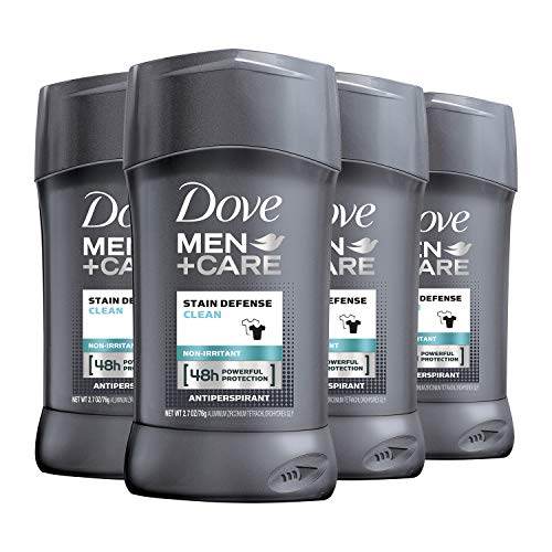 Dove Men+Care Antiperspirant Deodorant 48-hour anti-stain Protection Invisible Deodorant For Men 2.7 oz, 4 Count
