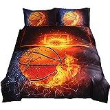 NTBED Brief Housse de couette Lot de 3 pcs de lit Doublesize Parure de lit Lit Parure de lit , Lin, Basketball