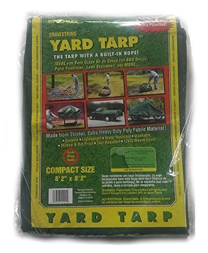 Yard Tarp with Drawstring-Poly Rope in Hem- Multi-Purpose Cover (8.2x8.2)