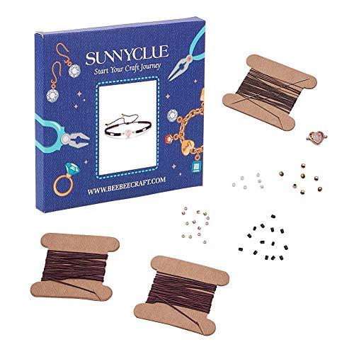 #NA 1 juego de pulseras de bricolaje, cuentas de semillas, pulseras de alambre para hacer joyas