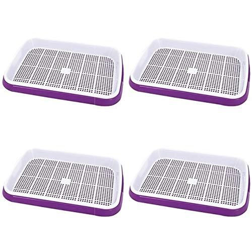 MINGMIN-DZ Dauerhaft 4 PC-Double-Layer Seed Germination Sämlingbehälter hydroponischen Korb Blumen Pflanze Sprießen Behälter-Kasten