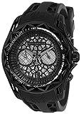 Technomarine Men's Technocell Stainless Steel Quartz Watch with Silicone Strap, Black, 24 (Model: TM-318003)