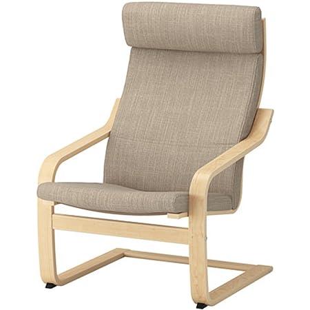 IKEA/イケア POANG/ポエング アームチェア バーチ材突き板/ヒッラレド ベージュ (291.977.51)