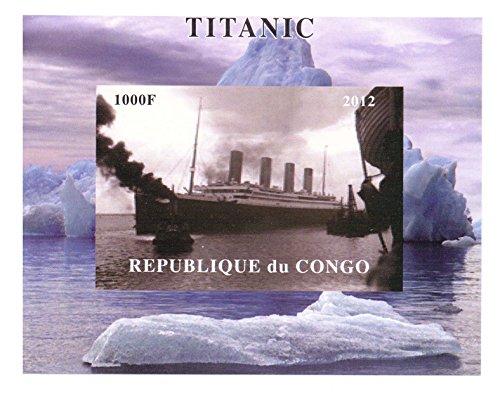 Titanic Sammler - RMS Titanic Imperforate Miniaturbriefmarkenbogens - Großartiger Zustand und frisch - 2012 / Kongo / 1000F