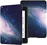 QIYI Case Fits Kindle Paperwhite 10th Generation 2018 Released eBook Reader Covers Smart Covers PU Leather Water-Safe Cases for Kindle Paperwhite with Auto Wake/Sleep - Purple Starry Sky