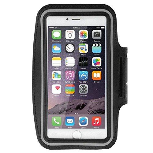DFVmobile - Armband Berufsausrüstung Armbandtasche Sport Reflektierende Wasserabweisende aus Neopren Premium für CUBOT S222 - Schwarz