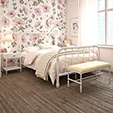DHP Jenny Lind Metal Full Bed Frame in White