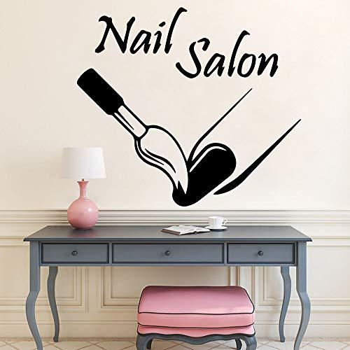 wZUN Salón de uñas Pegatinas de Pared manicura Pegatinas de Vinilo decoración niñas Dormitorio salón de Belleza calcomanías de decoración 36X39 cm