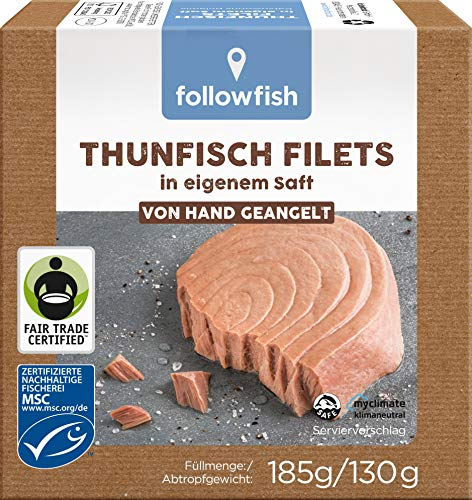 followfish MSC Thunfisch Filets im eigenen Saft, 185 g