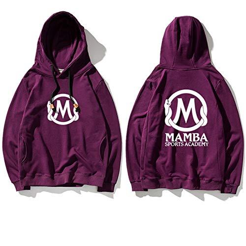 FMJTXD Mamba Negra para Siempre!Mamba Academy Purple Purple Respirable Sudadera con Capucha Kobe's First Anniversary Memorial Sudadera-LQY-C1353 (Color : Púrpura, Size : L)