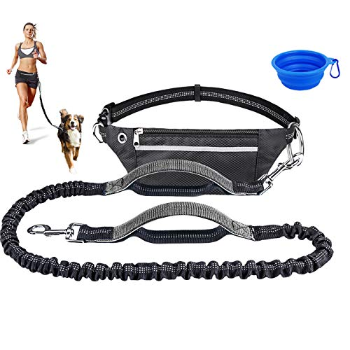 cyrico Hands Free Dog Leash for Running Training Walking, Extendable Bungee Dog Running...