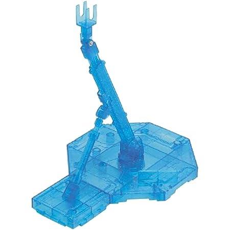 chiwanji プラモデル フィギュア スタンド 台座 アクションベース 1/100 スケール MGガンダムモデルに適用 - 青い