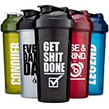 Hydra Cup 5 Pack of OG Shaker Bottles, 24oz Max Value Pack, Protein Shaker Cups, 5qty Stand Out Colors & Logos Version Two