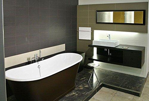 Porte-serviette chauffant, électrique, Valderoma carré Ardoise, 800 W