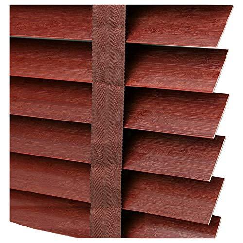 ZEMIN Jalousien Bambusrollo Sichtschutz Fenster Schlafzimmer Dimmbar Brandschutz Bambus, Größe Anpassbar (Color : A, Size : 50x150cm)