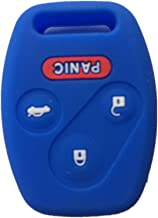 Navy Blue Silicone Rubber Keyless Entry Remote Key Fob Case Skin Cover Protector for Honda 3+1 Buttons