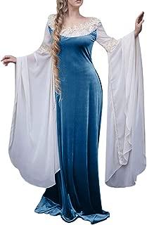 Mythic Renaissance Medieval Irish Costume Over Dress, Cream Chemise Set Vintage Floor Length Cosplay Dress