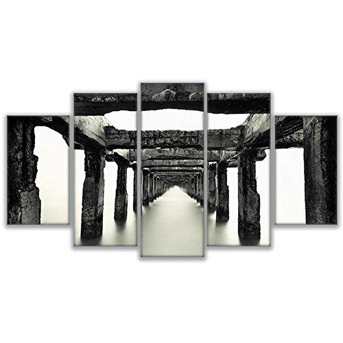HD imágenes abstractas impresas lienzo Bastidor Salón de Arte de pared de 5 piezas en el Void Pintura Puente místico Poster decoracion,20x35 20x45 20x55cm,Frame: Amazon.es: Hogar
