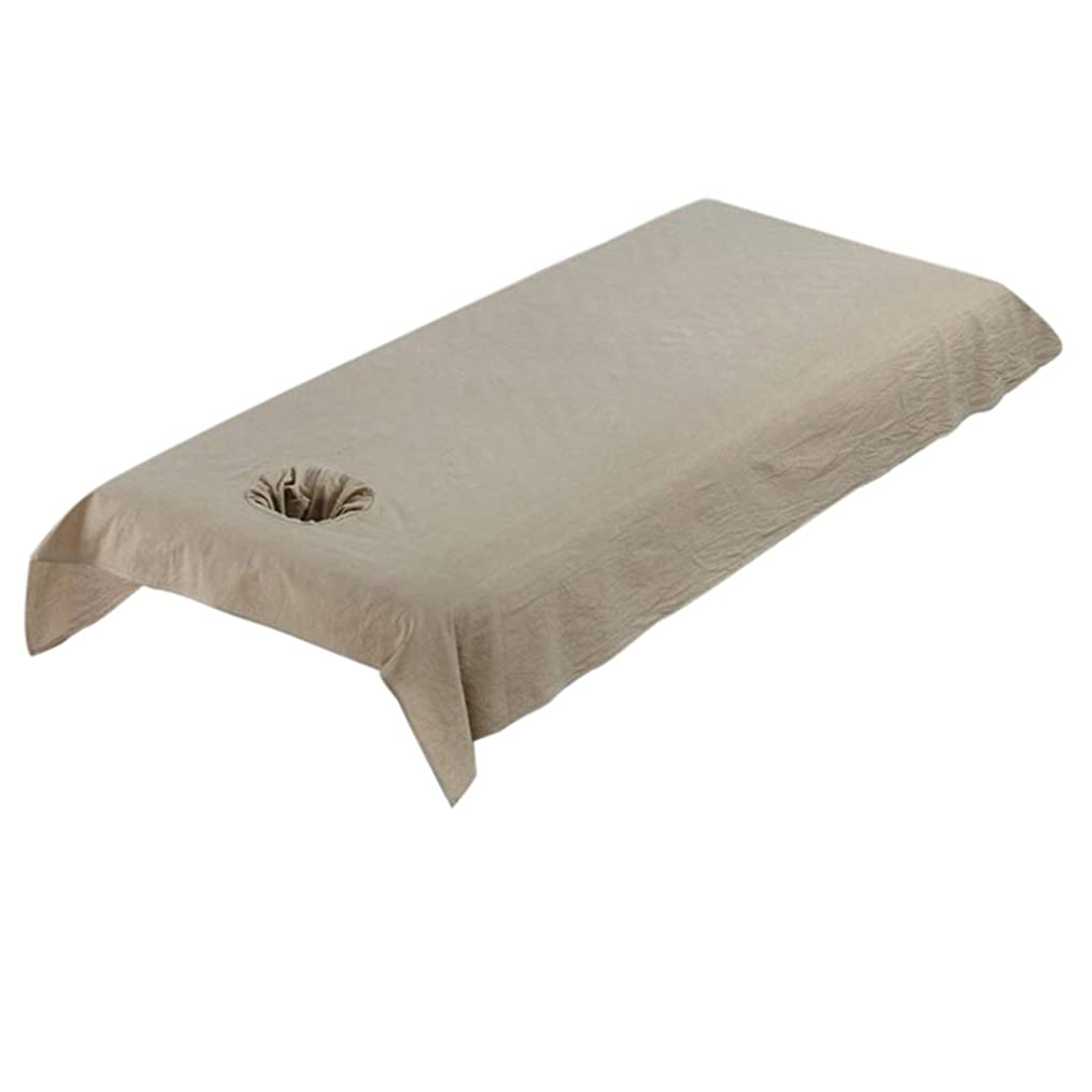 チーフシンプルさ葉巻Perfeclan サロン マッサージ台 シーツ 綿素材 ベッドカバー 洗える 約80×200cm 多色 - カーキ