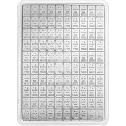 Generisch 1 g Silberbarren, Feinsilber, Neu, 1g, 5g, 10g, 20g (10g)