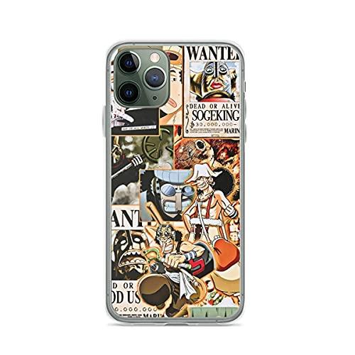 Compatibile con iPhone 12/11 Pro Max 12 mini SE X/XS Max XR 8 7 6 6s Plus Custodie One Piece Usopp Collage Custodie per Telefoni Cover