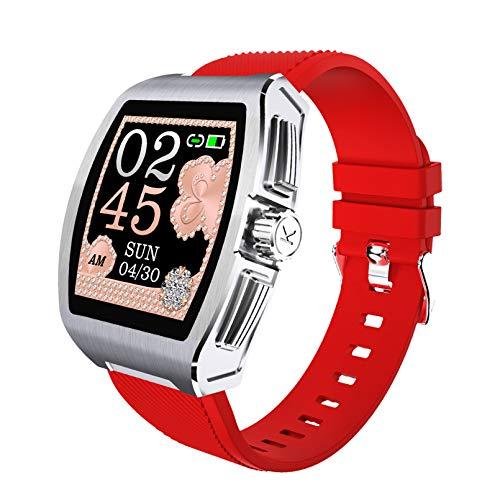 WEINANA Reloj Inteligente Multifuncional Bluetooth SmartWatch Podómetro Deportivo Pulsera Inteligente Control de música Reloj Inteligente para Deportes al Aire Libre(Color:B)