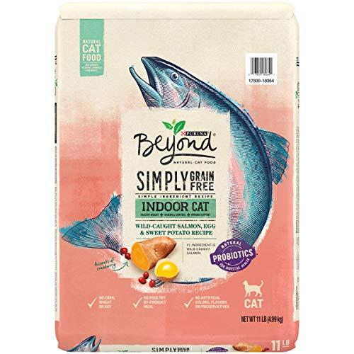 Purina Beyond Indoor, Grain Free, Natural Dry Cat Food, Grain Free Salmon, Egg & Sweet Potato Recipe - 11 lb. Bag