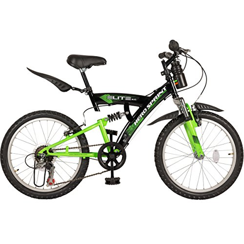 Hero Sprint Elite 20T 6 Speed Kids' Bike (Black Green, Ideal For : 7 to 9 Years )