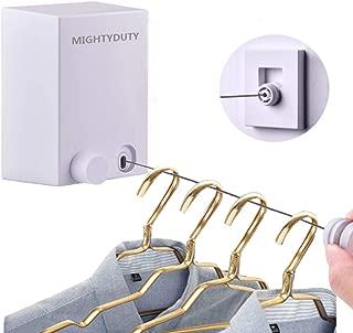 MIGHTYDUTY 室内物干しワイヤー、物干しロープ、最大限4.2m 耐重荷25KG 巻き取り式 壁掛け 洗濯物干し 自由伸縮 実用 便利 省スペース 日本語説明書付き