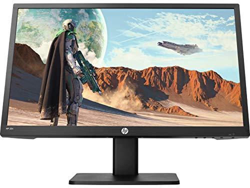 """HP 22x TN - Monitor Gaming, pantalla FHD de 22"""", AMD FreeSync, tiempo respuesta saturación 1 ms, frecuencia 144 Hz, altavoces integrados, luz azul baja, compatible con Vesa, HDMI, VGA, negro"""