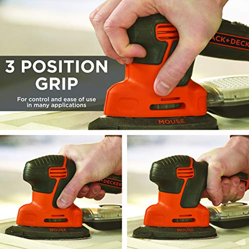BLACK+DECKER Mouse Detail Sander, Compact Detail (BDEMS600)