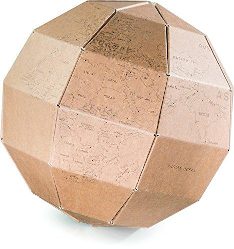 Donkey Products - My Travel Globe | Stylischer Globus aus hochwertiger Pappe zum Markieren von Reisezielen | Schöne Wohnzimmer-Deko für Globetrotter