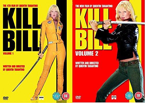 Quentin Tarantino's Kill Bill Volume 1 + Kill Bill Volume 2 Complete (2 Discs) DVD Martial Arts Collection + Extras