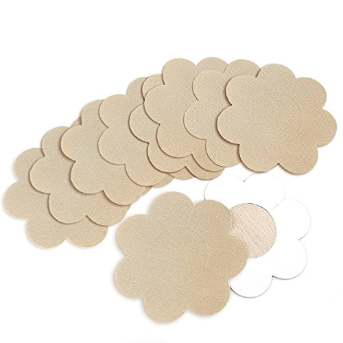 5 Pairs Nipple Breast Covers,Breast Pasties Disposable Beige Adhesive Bras