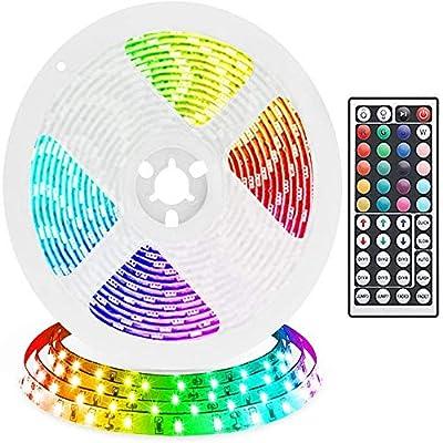 COOL·CAR LED Strip Lights, DC12V 32.8ft (10M) 5050 300LEDs RGB Waterproof Led Tape Light, Color Changing LED Strip Lights with Remote,for Home Kitchen TV Party Bed Flexible Strip