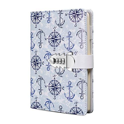 A5 PU-Leder Tagebuch mit Schloss Tagebuch mit Zahlenschloss Passwort Notizbuch Verriegelung Tagebuch