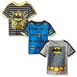 Batman Toddler Boys' Value Pack T-Shirt Shirts, Gray 3 pack, 2T