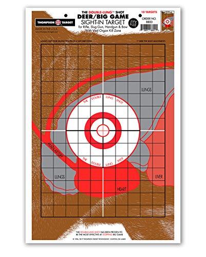 Life Size Deer Vital Organ Sight In - Paper Hunting & Shooting Targets (12.5