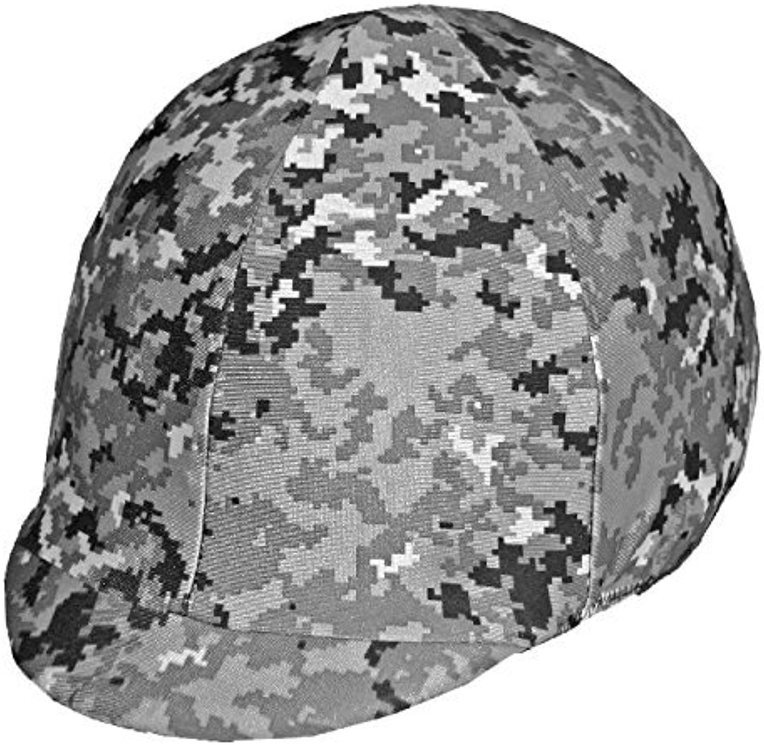 Equestrian Riding Helmet Cover  Digital Grey Camouflage