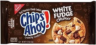 Nabisco, Chips Ahoy! Crunchy Cookies, 11.75oz Bag (Pack of 4) (Choose Flavors Below) (White Fudge Chunky Crunchy Cookies)