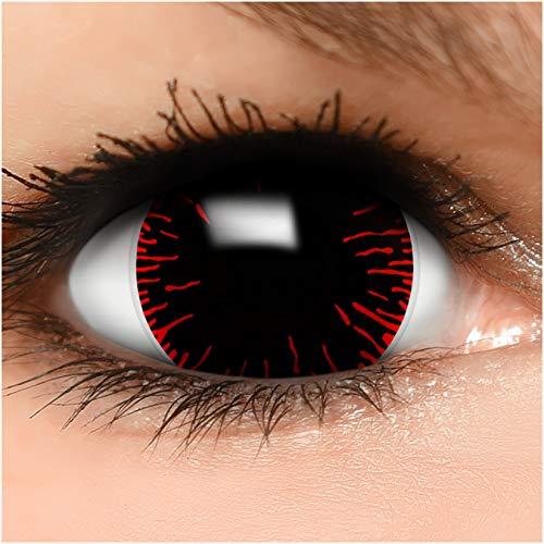 Farbige Mini Sclera Kontaktlinsen Lenses Hangman inkl. Behälter - Top Linsenfinder Markenqualität, 1Paar (2 Stück)